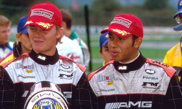 Hamilton y Rosberg en el 2000. Foto: Sutton Images