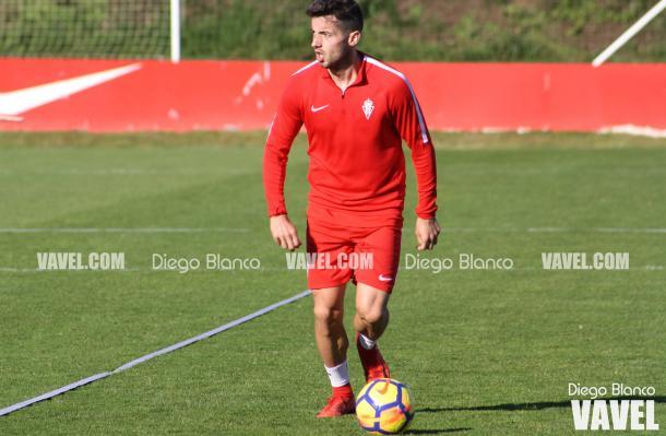 Jony regresó al Sporting en calidad de cedido hasta final de temporada // Imagen: Diego Blanco - VAVEL