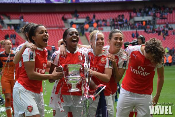 Arsenal Ladies celebrate victory | Photo: VAVEL
