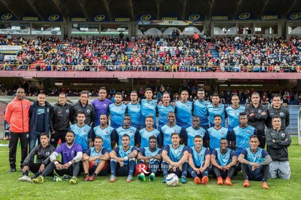 Foto del equipo en el Estadio Libertad de Pasto. Foto: Quique Rosero.