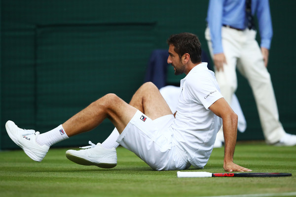 Marin Cilic's early loss will cause a shake-up in the top ten. Photo: Clive Brunskill/Getty Images