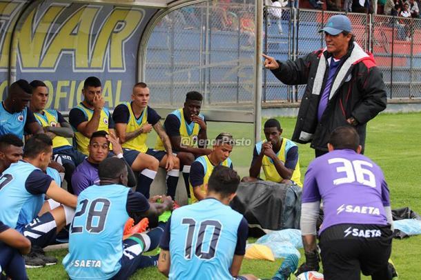 Flabio Torres en la práctica de Deportivo Pasto. Foto: Deportivo Pasto
