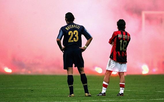 Materazzi y Rui Costa en una imagen histórica. / Foto: gettyimages