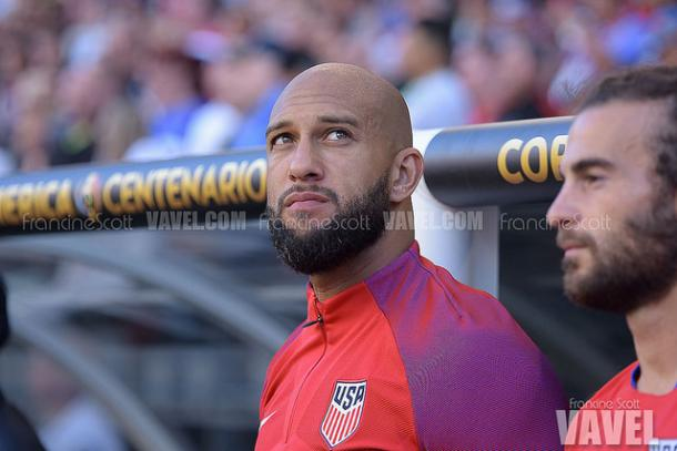 Tim Howard has returned from his injury after three months | Source: Francine Scott - VAVEL USA