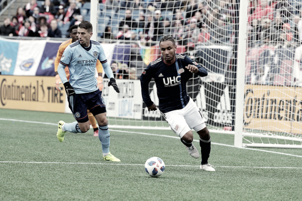 Juan Agudelo vs NYCFC | Source: David Silverman - New England Revolution