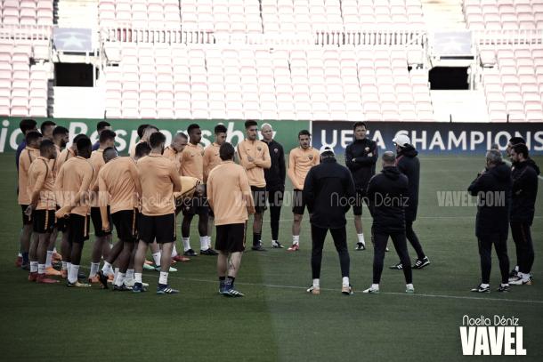 Entrenamiento de la Associazone Sportiva Roma en el Camp Nou | Foto de Noelia Déniz, VAVEL