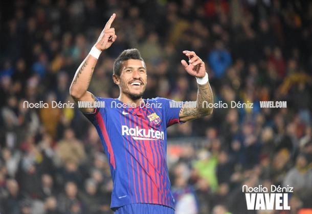 Paulinho celebrando un gol. Foto: Noelia Déniz (VAVEL).