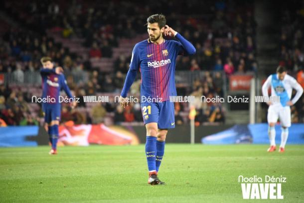 André Gomes ante el Deportivo en el Camp Nou   Foto: Noelia Déniz, VAVEL