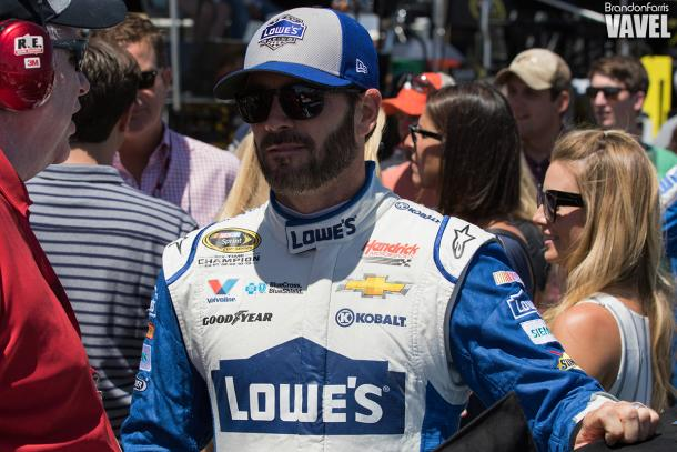 Jimmie Johnson failed to make it out of round one of qualifying | Picture Credit: Brandon Farris