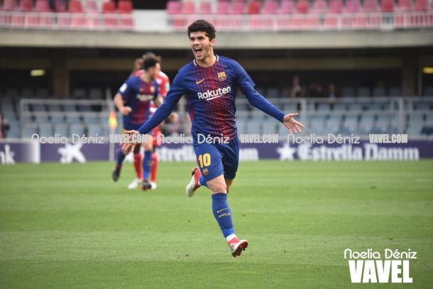 Aleñá celebra su gol al Granada | Foto: Noelia Déniz