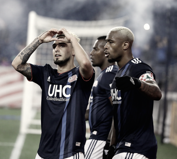 Diego celebrates his goal against Montreal | Photo by David Silverman