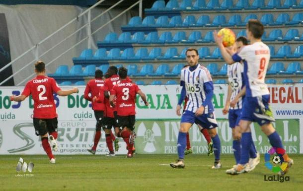 La primera victoria del Mallorca fuera de casa fue ante la Ponferradina | Foto: LFP.