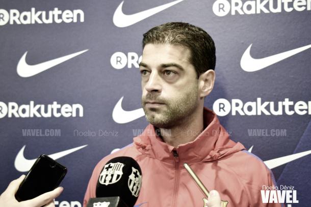 Gerard López en la rueda de prensa previa al duelo contra el Huesca | Foto de Noelia Déniz, VAVEL