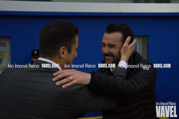 López Garai en su último partido como entrenador del CF Reus, ante el Alcorcón | Foto: Vavel