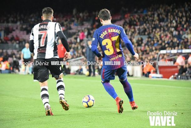 José Arnáiz disfrutó de sus primeros minutos en Liga con el FC Barcelona   Foto: Noelia Déniz - VAVEL
