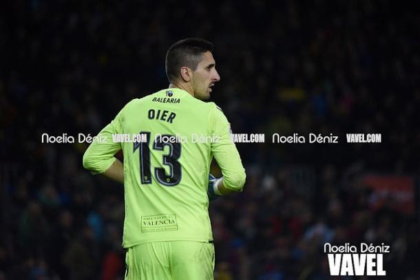 Oier en el Camp Nou la pasada temporada | Foto: Noelia Déniz (VAVEL)