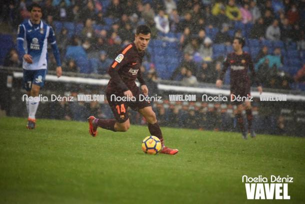 Coutinho en el último partido del Barça en Liga. Foto: Noelia Déniz, VAVEL.com