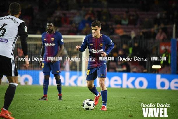 Coutinho anota su primer gol con la blaugrana | Foto: Noelia Déniz - VAVEL