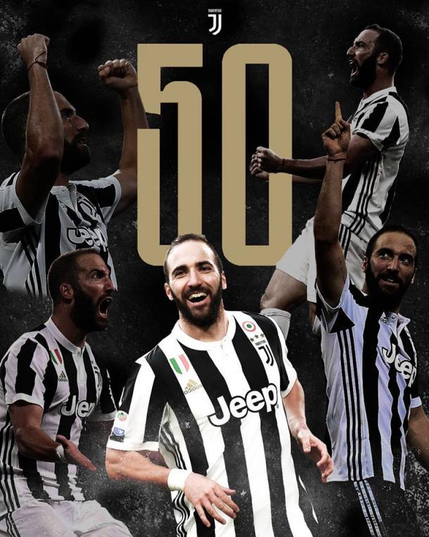 Higuaín puso el segundo en el marcador / Foto: Juventus