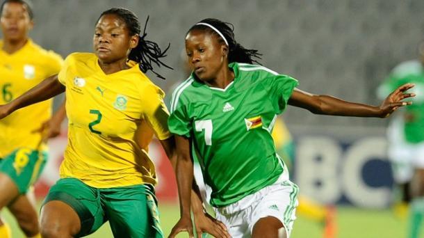 Rudo Neshamba (right) will be a key player for Zimbabwe this summer. (Photo: FIFA)