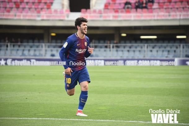 Carles Aleñá, máximo goleador del Barça B | Foto: Noelia Déniz - VAVEL
