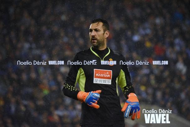 Diego López en el último encuentro de Copa del Rey ante el Barcelona. Foto: Noelia Déniz.