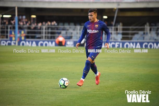 Nahuel fue uno de los futbolistas más destacados del FC Barcelona B | Foto: Noelia Déniz, VAVEL