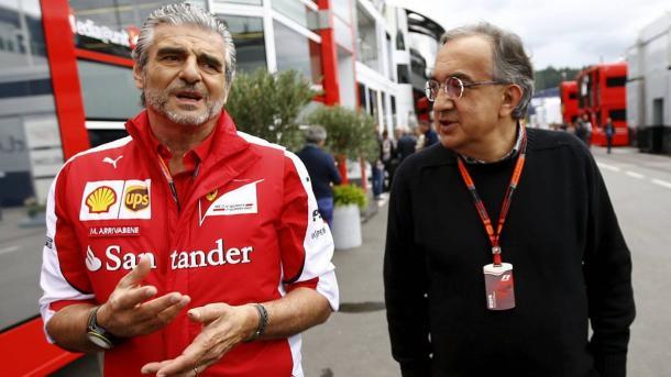 Maurizio Arrivabene y Sergio Marchionne. (Fuente | REUTERS)