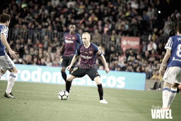 Despedida de Iniesta ante la Real Sociedad | Foto: Noelia Déniz - VAVEL