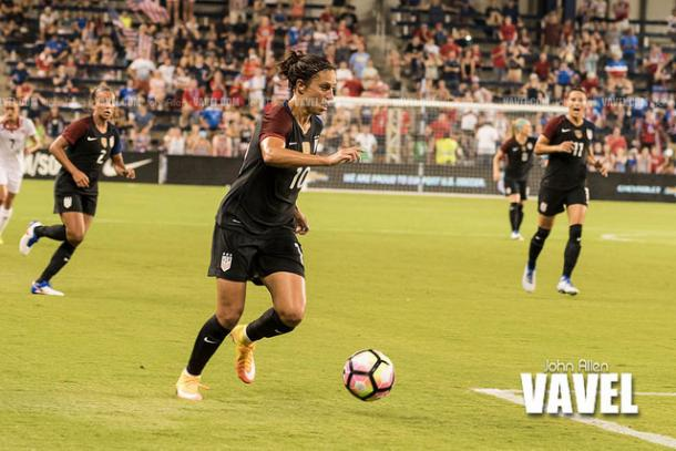 Carli Lloyd (center) has been playing some of her best soccer the last 15 months | Source: John Allen - VAVEL USA