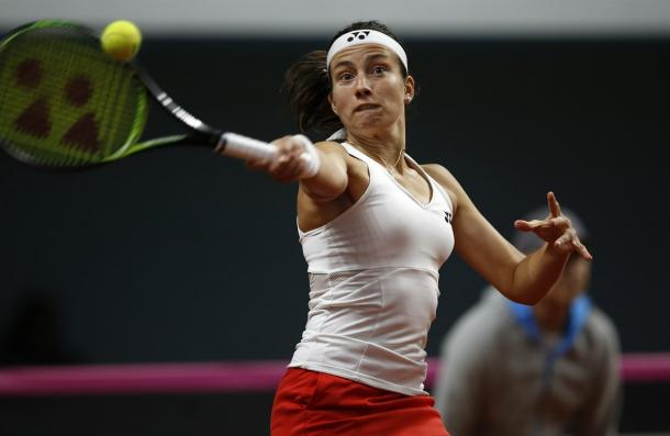 Anastasija Sevastova had a great start but was ultimately pegged back by Pavlyuchenkova | Photo: Sergey Kivrin / Fed Cup