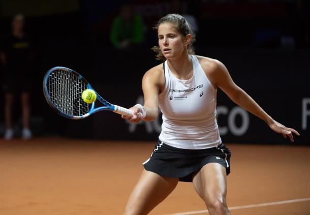 Julia Goerges made a fast start to lead 3-1, but was soon pegged back by the inspired Czech | Photo: Paul Zimmer / Fed Cup