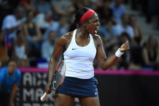 Sloane Stephens was firing on all cylinders today, not losing her serve throughout the encounter | Photo: Corinne Dubreuil / Fed Cup