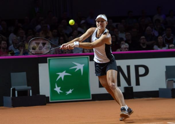 Angelique Kerber struggled to find rhythm in the match | Photo: Paul Zimmer / Fed Cup