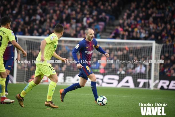 Andrés Iniesta fue uno de los nombres propios en el último Barça - Getafe / Foto: Noelia Déniz (VAVEL.com)