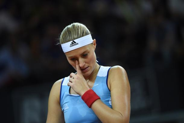 Kristina Mladenovic was unable to produce her best tennis during the match | Photo: Corinne Dubreuil / Fed Cup