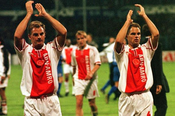 Frank de Boer and his brother Ronald during their playing days | Source: AP