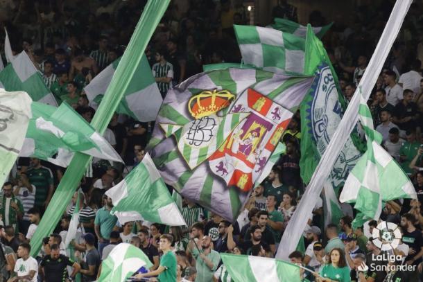 Afición del Betis animando ante el Getafe   Fotografía: LaLiga