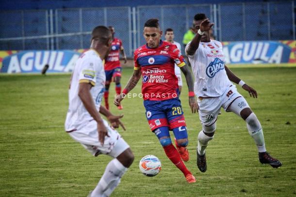 Deportivo Pasto vs Deportes Tolima. Foto: @DeporPasto