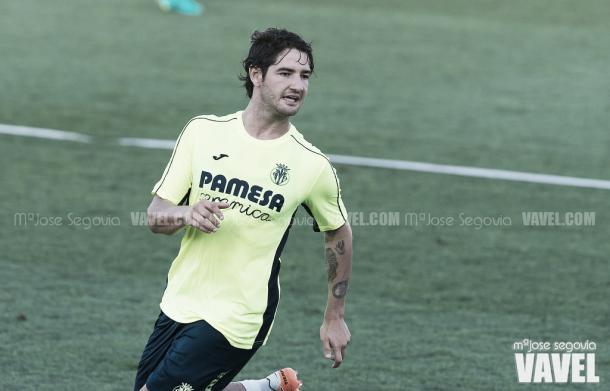 Alexandre Pato, en un entrenamiento con el Villarreal | Foto: Mº José Segovia (VAVEL)