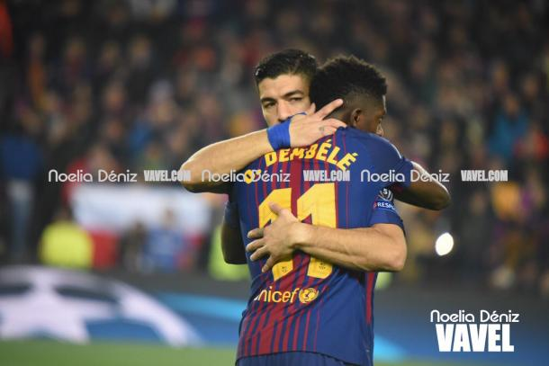 Dembélé jugó uno de sus mejores partidos vestido de azulgrana. | Fotografía: Noelia Déniz (VAVEL.com)