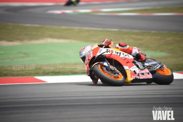 Márquez terminó en el podio en Brno por detrás de las Ducati | Foto: Noelia Déniz - VAVEL