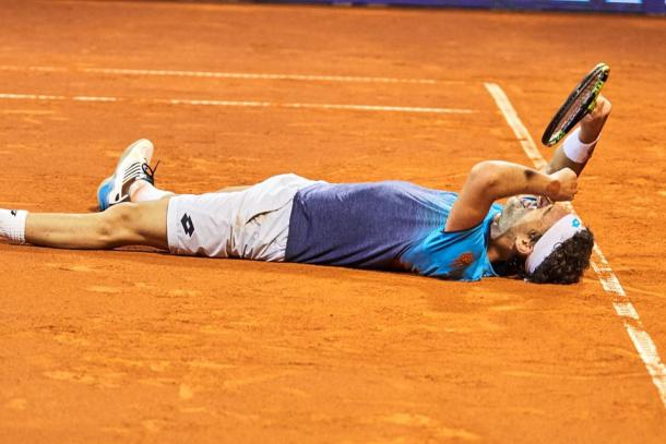 Cecchinato continued his fantastic clay court season that helped vault him to the cusp of the top twenty. Photo: Croatia Open