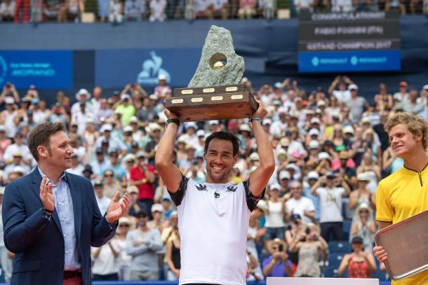 Fabio Fognini will go for a second straight title this week in Gstaad, where he won the title last year. Photo: Swiss Open Gstaad