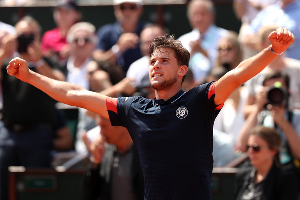 Dominic Thiem returns to the clay after a disappointing grass court season. Photo: Matthew Stockman/Getty Images