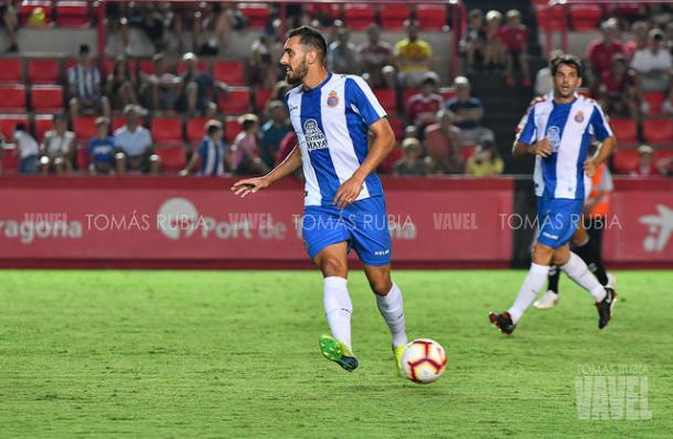 Imagen de archivo. Ni Borja Iglesias ni Víctor Sánchez pudieron revertir la situación | Foto: Tomás Rubia - VAVEL