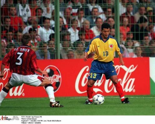 Wilmar Cabrera en el Mundial de Francia 1998. FOTO: enunabaldosa.com