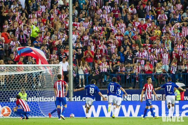 Manu marcó en el descuento el primer gol albiazul de la temporada  |  Fotografía: Daniel Nieto / VAVEL