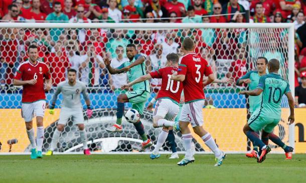 Gera opened the scoring against Portugal (Photo: Robert Pratta/Reuters)