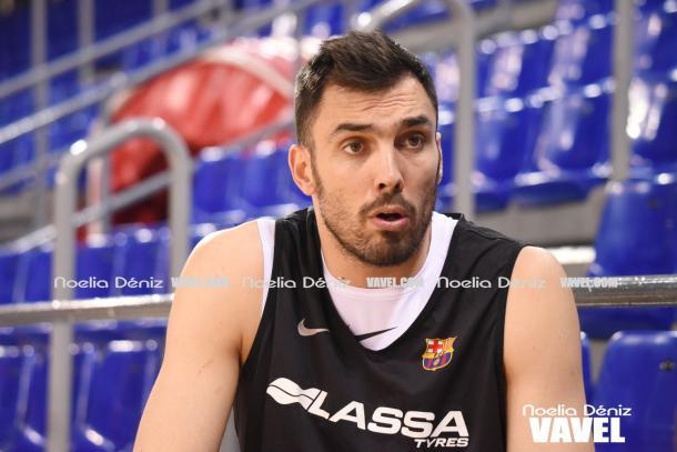 El jugador del Barcelona recordaba el difícil inicio de temporada. | Fotografía: Noelia Déniz (VAVEL.com)